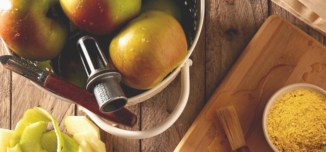 Gewürz-Apfel mit Kurkuma-Quark
