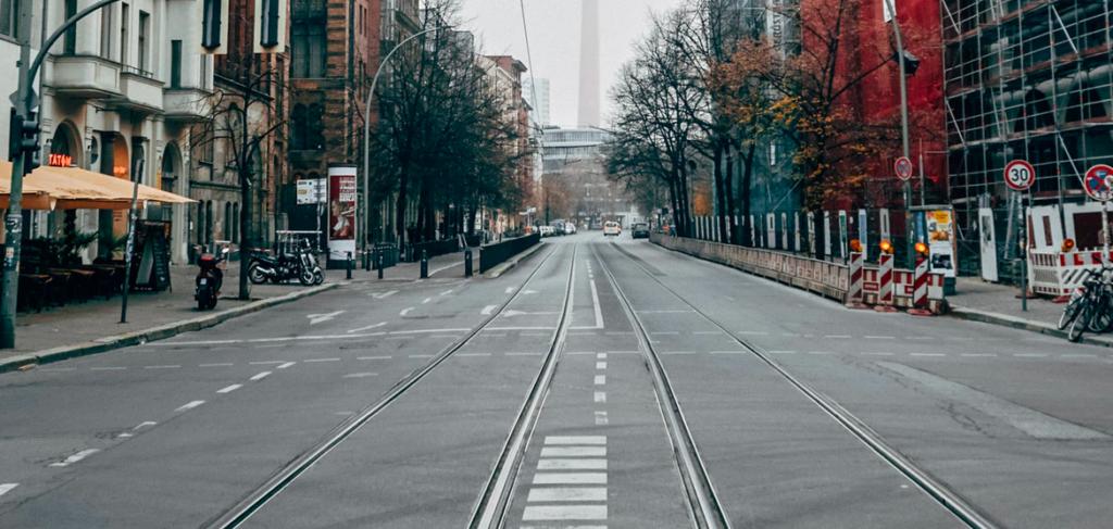 Leere Straßen Berlin